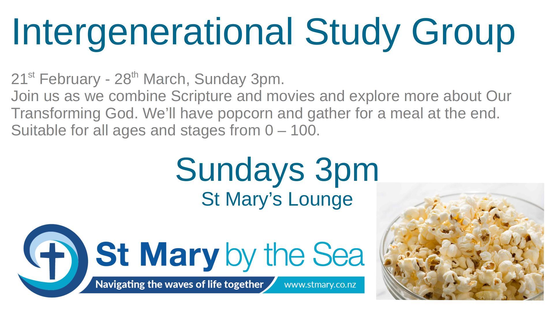 Intergenerational Lent Sunday group