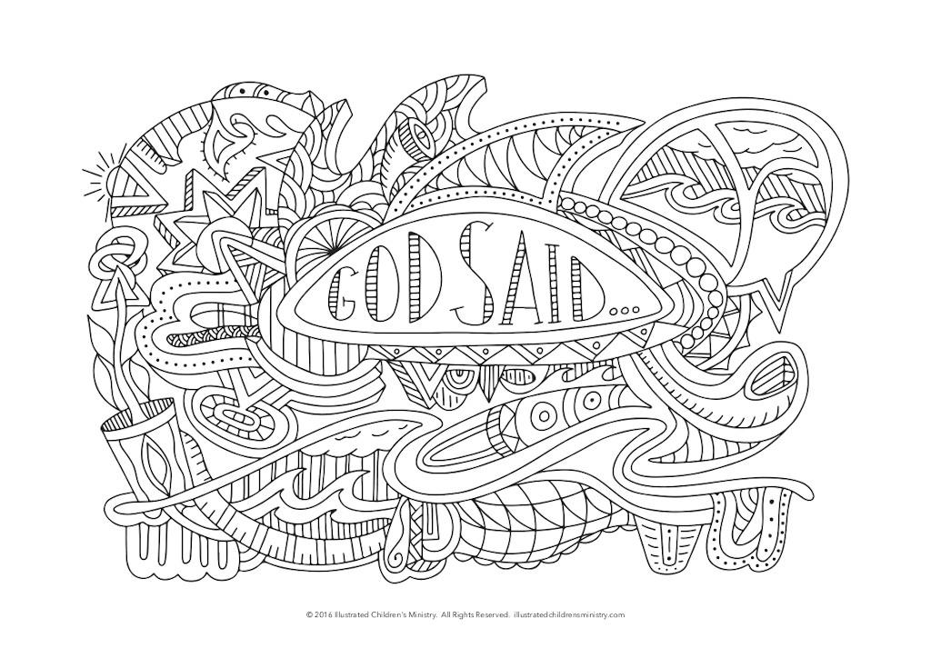 God Said Colouring